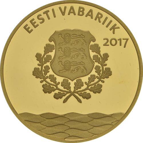 Rückseite:Estland : 25 Euro Hansestadt Tallinn  2017 PP