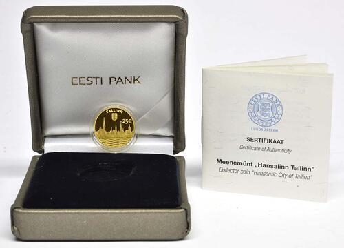 Lieferumfang:Estland : 25 Euro Hansestadt Tallinn  2017 PP