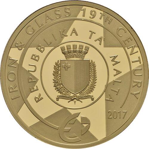 Rückseite:Malta : 50 Euro Botanischer Garten Argotti  2017 PP