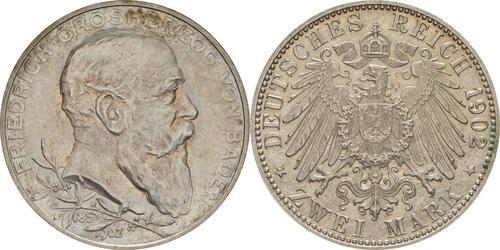 Lieferumfang :Deutschland : 2 Mark Friedrich I.  1902 Stgl.