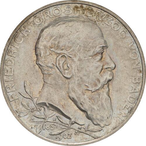 Vorderseite :Deutschland : 2 Mark Friedrich I.  1902 Stgl.