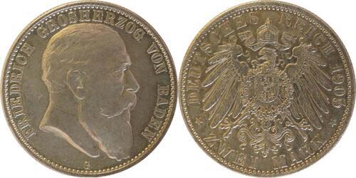 Lieferumfang:Deutschland : 2 Mark Friedrich I.  1905 ss/vz.