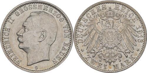 Lieferumfang :Deutschland : 2 Mark Friedrich II. patina 1913 Stgl.