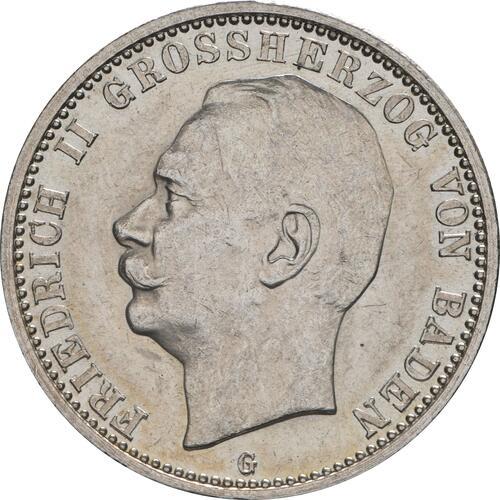 Vorderseite :Deutschland : 2 Mark Friedrich II. patina 1913 Stgl.