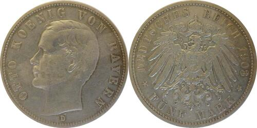 Lieferumfang:Deutschland : 5 Mark Otto  1903 ss.