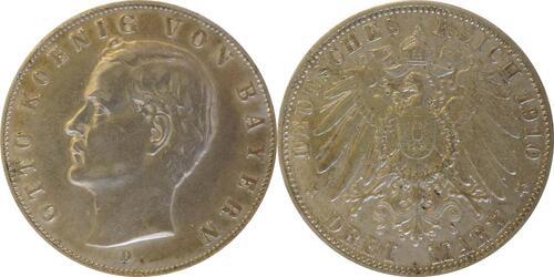 Lieferumfang:Deutschland : 3 Mark Otto  1910 ss.