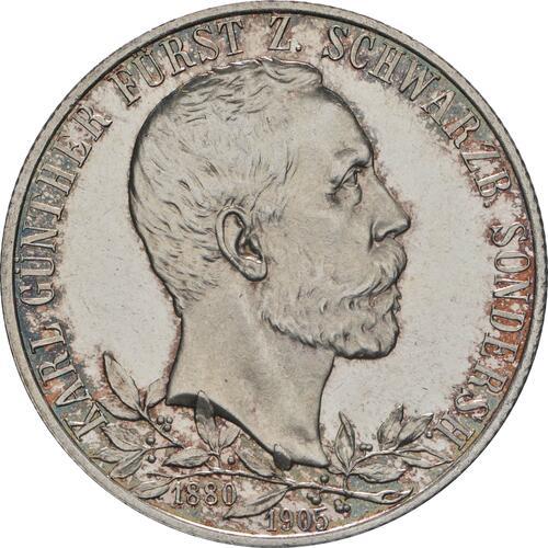 Vorderseite:Deutschland : 2 Mark Karl Günther - aus PP  1905 Stgl.