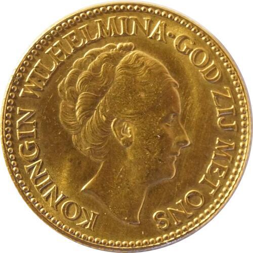 Vorderseite:Niederlande : 10 Gulden   1926 vz/Stgl.