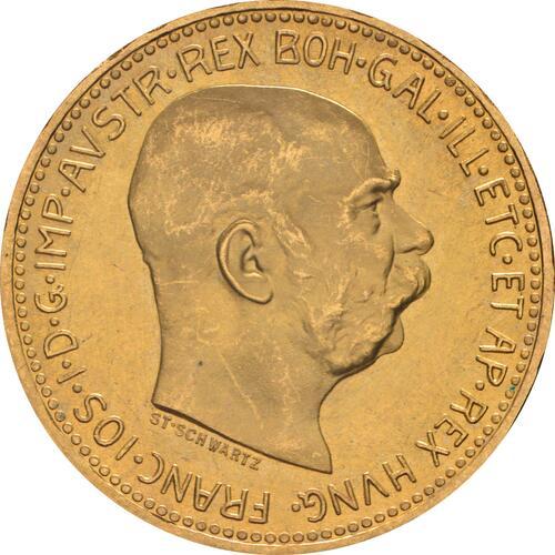Vorderseite :Österreich : 20 Kronen NP  1915 vz/Stgl.
