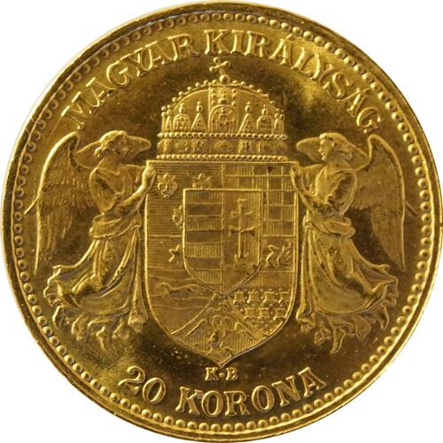 Rückseite:Ungarn : 20 Korona   1898 vz.