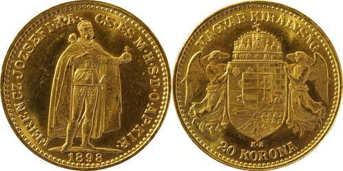 Lieferumfang:Ungarn : 20 Korona   1898 vz.