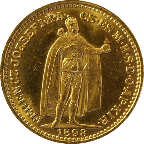 Vorderseite:Ungarn : 20 Korona   1898 vz.
