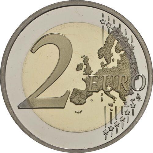 Vorderseite :Slowenien : 2 Euro 10. Jahrestag der Einführung des Euro in Slowenien  2017 PP