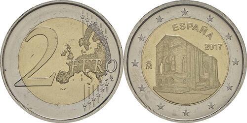 Lieferumfang:Spanien : 2 Euro Kirchen des Königreichs Asturien  2017 bfr