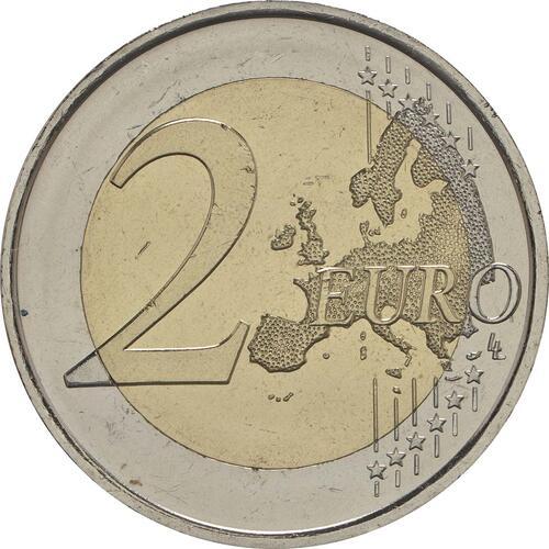 Vorderseite:Spanien : 2 Euro Kirchen des Königreichs Asturien  2017 bfr