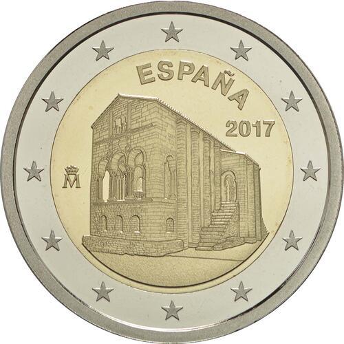 Rückseite :Spanien : 2 Euro Kirchen des Königreichs Asturien  2017 PP