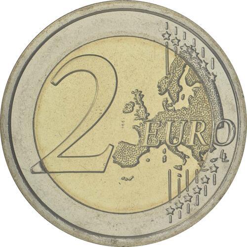 Vorderseite :San Marino : 2 Euro Internationales Jahr des Tourismus  2017 Stgl.