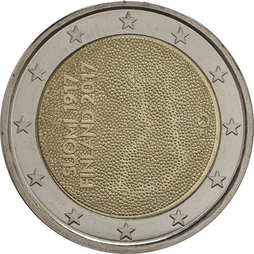 Rückseite :Finnland : 2 Euro 100. Jahrestag der Unabhängigkeit Finnlands  2017 bfr