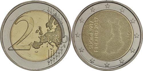 Lieferumfang :Finnland : 2 Euro 100. Jahrestag der Unabhängigkeit Finnlands  2017 bfr