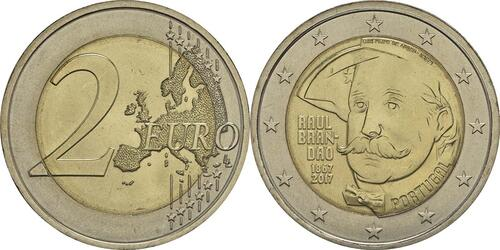 Lieferumfang :Portugal : 2 Euro 150 Jahre Raul Brandao  2017 bfr