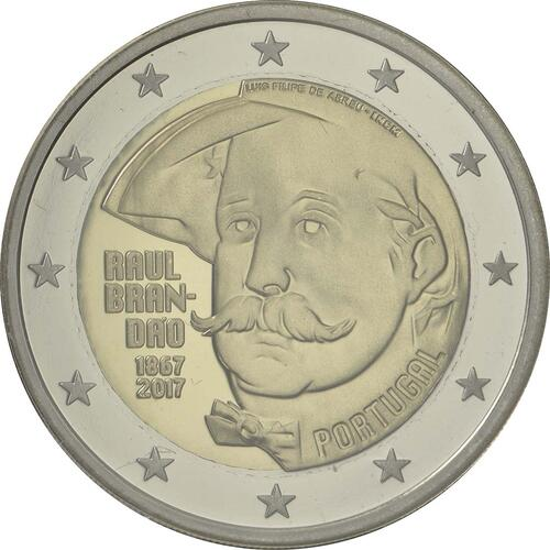 Rückseite :Portugal : 2 Euro 150 Jahre Raul Brandao  2017 PP