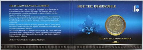 Lieferumfang:Estland : 2 Euro Estlands Weg in die Unabhängigkeit  2017 Stgl.