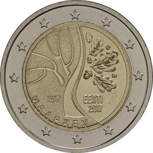 Rückseite:Estland : 2 Euro Estlands Weg in die Unabhängigkeit  2017 bfr