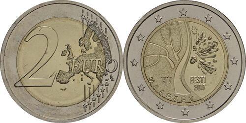 Lieferumfang:Estland : 2 Euro Estlands Weg in die Unabhängigkeit  2017 bfr