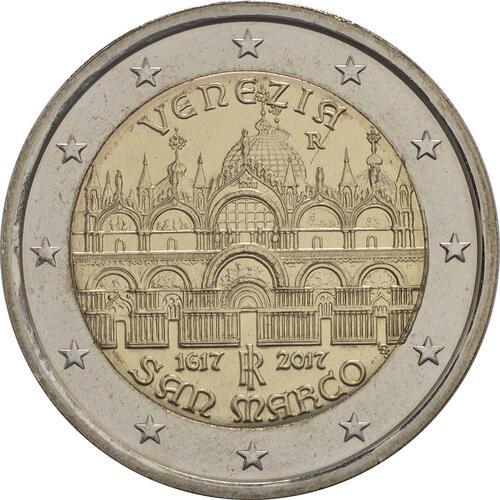Rückseite:Italien : 2 Euro 400. Jahrestag der Fertigstellung der Basilica di San Marco in Venedig  2017 bfr