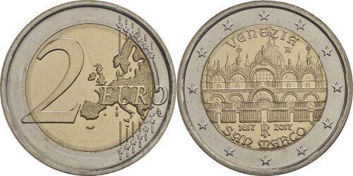 Lieferumfang:Italien : 2 Euro 400. Jahrestag der Fertigstellung der Basilica di San Marco in Venedig  2017 bfr