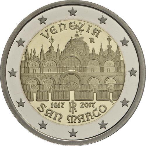 Rückseite:Italien : 2 Euro 400. Jahrestag der Fertigstellung der Basilica di San Marco in Venedig  2017 PP