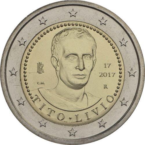Rückseite :Italien : 2 Euro 2000. Todestag von Titus Livius  2017 bfr