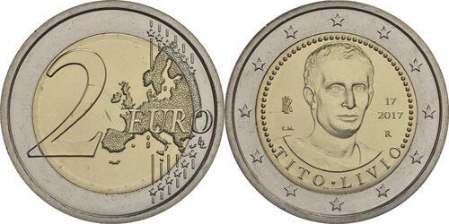 Lieferumfang :Italien : 2 Euro 2000. Todestag von Titus Livius  2017 bfr