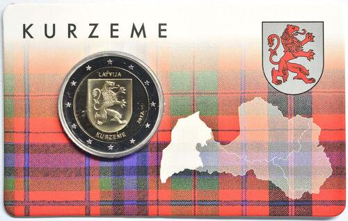 Lieferumfang:Lettland : 2 Euro Kurzeme  2017 Stgl.