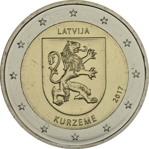 Rückseite:Lettland : 2 Euro Kurzeme  2017 bfr