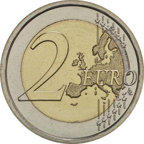 Vorderseite:Vatikan : 2 Euro 1950. Jahrestag des Martyriums von St. Peter und Paul  2017 Stgl.