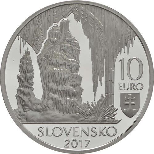 Rückseite:Slowakei : 10 Euro Grotten von Karst  2017 PP