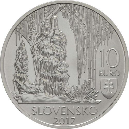 Rückseite:Slowakei : 10 Euro Grotten von Karst  2017 Stgl.