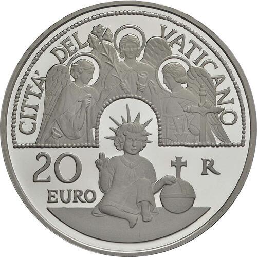 Vorderseite:Vatikan : 23,88 Euro KMS Vatikan mit 20 Euro Gedenkmünze  2017 PP