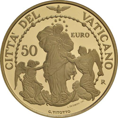 Rückseite:Vatikan : 53,88 Euro KMS Vatikan mit 50 Euro Gedenkmünze  2017 PP