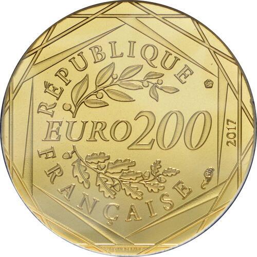 Rückseite :Frankreich : 200 Euro Jean Paul Gaultier  2017 bfr