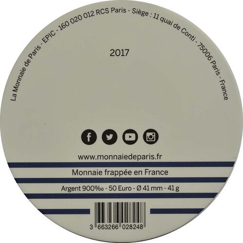 Zertifikat :Frankreich : 50 Euro   2017 bfr