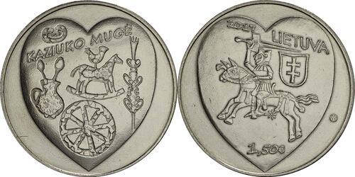 Lieferumfang :Litauen : 1,5 Euro Kaziukas  2017 vz.