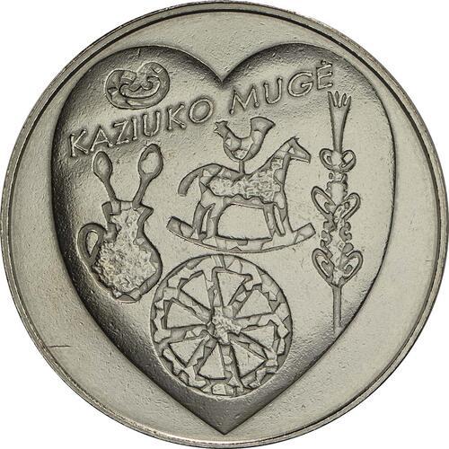 Vorderseite :Litauen : 1,5 Euro Kaziukas  2017 vz.
