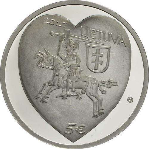 Rückseite :Litauen : 5 Euro Kaziukas  2017 PP