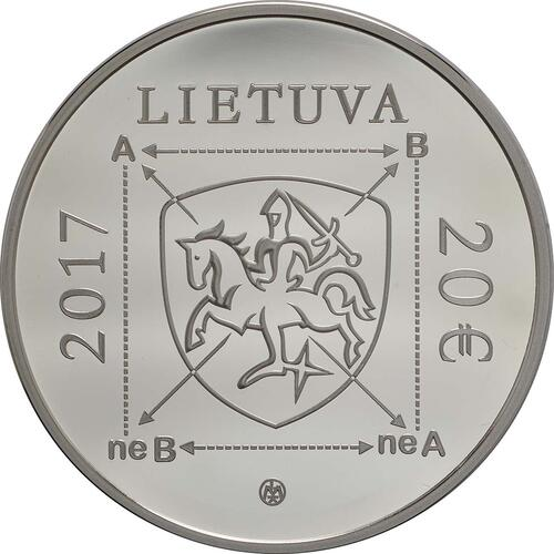 Rückseite :Litauen : 20 Euro Greimas  2017 PP