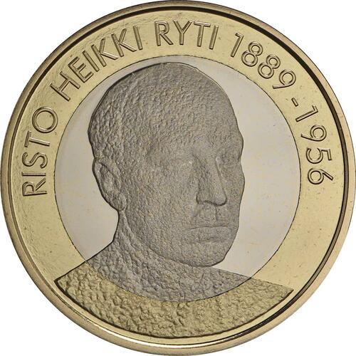 Vorderseite :Finnland : 5 Euro Ryti  2017 PP