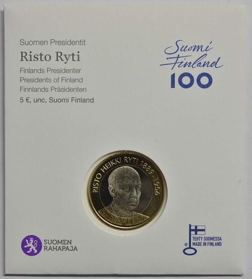 Lieferumfang :Finnland : 5 Euro Ryti  2017 Stgl.