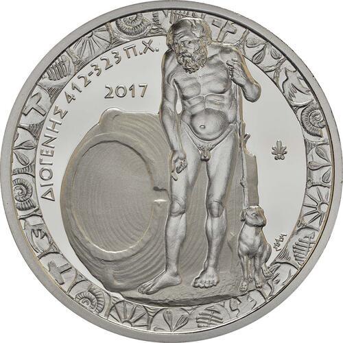 Vorderseite :Griechenland : 10 Euro Diogenes  2017 PP