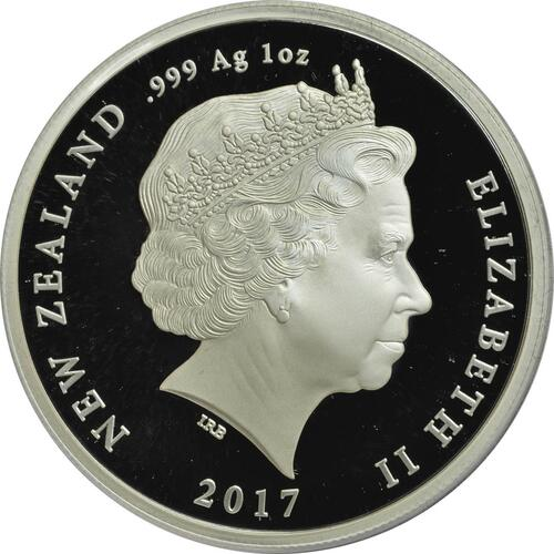 Rückseite :Neuseeland : 1 Dollar Artillerie - 5 Jahres Serie WW1  2017 PP